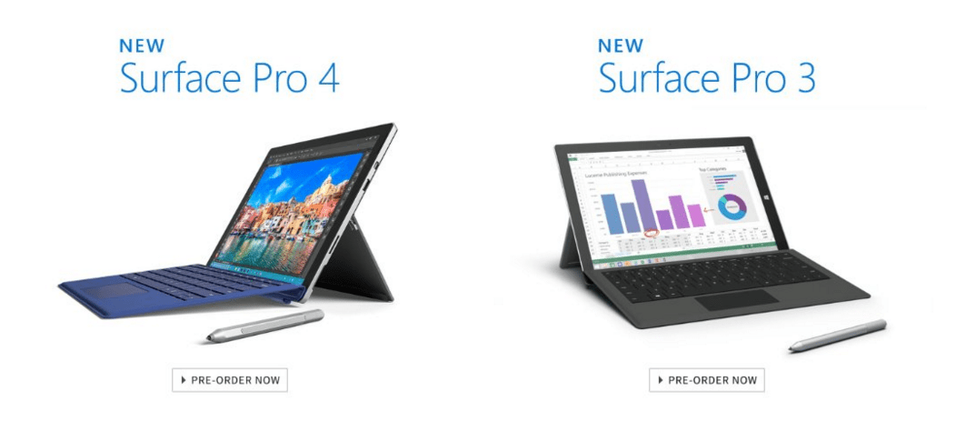 Surface Pro 4 & Surface Pro 3