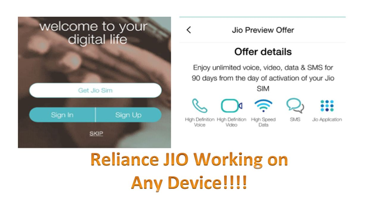 Reliance jio offer on any device