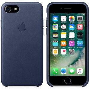Apple Artificial Leather Phone Case for Apple iPhone 7 (Midnight Blue)