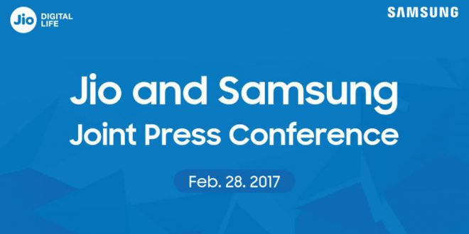 Reliance Jio & Samsung joint press conference at MWC 2017