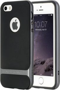 Rock Back Cover for Apple iPhone 7 (Black, Grey)