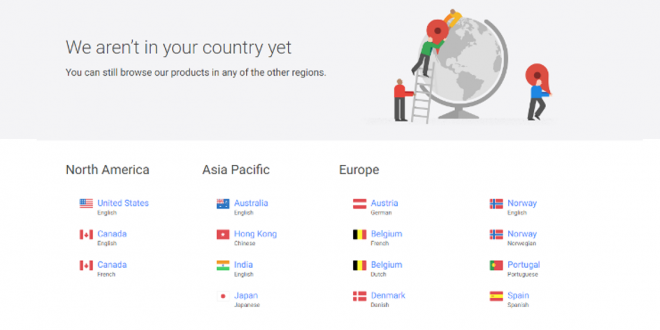 Google Store Country Access