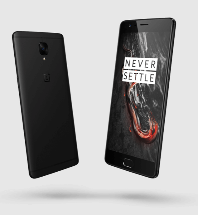 OnePlus 3T Midnight Black Edition Front & Rear