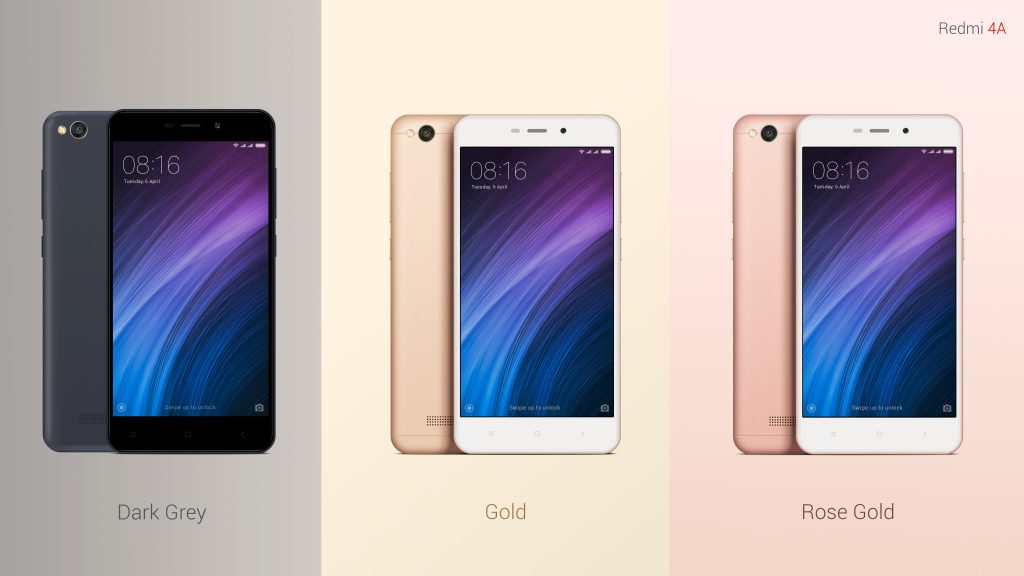 Redmi 4A Colors