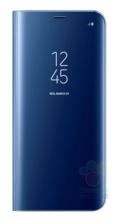 Samsung Galaxy S8 clear view blue