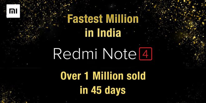 Xiaomi Redmi Note 4 1 Million Sales