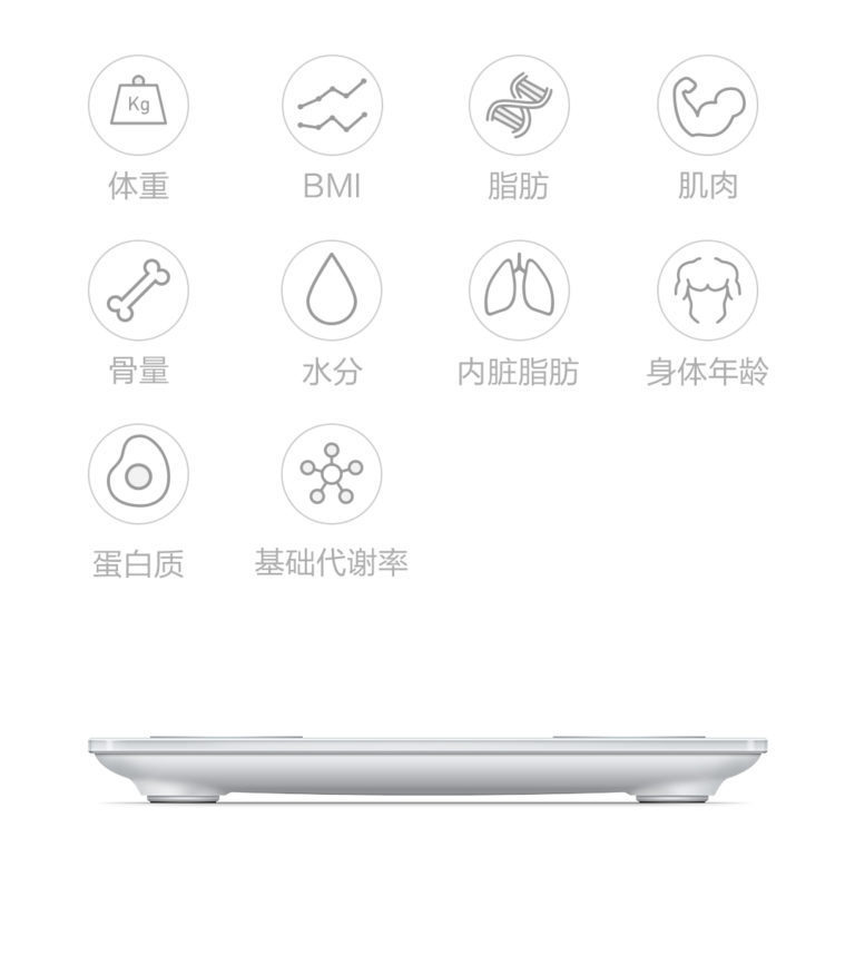 xiaomi smart body fat scale features