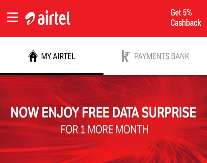 Airtel 1 Month Free Holiday Surprise Offer