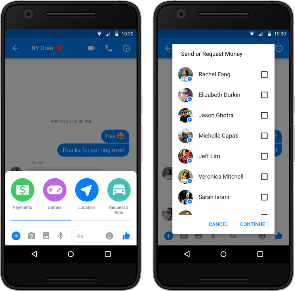 Group Payments in Facebook Messenger Demo-1