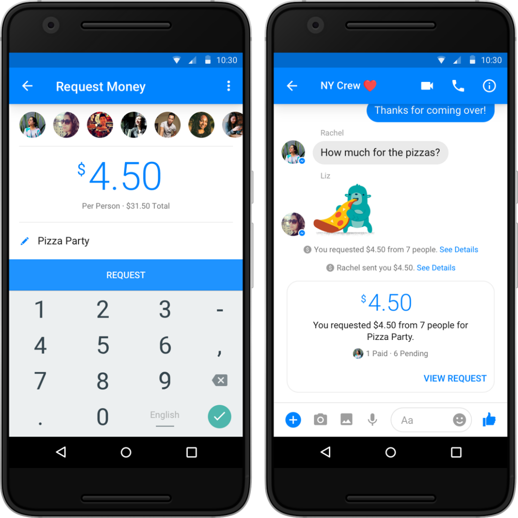Group Payments in Facebook Messenger Demo-2