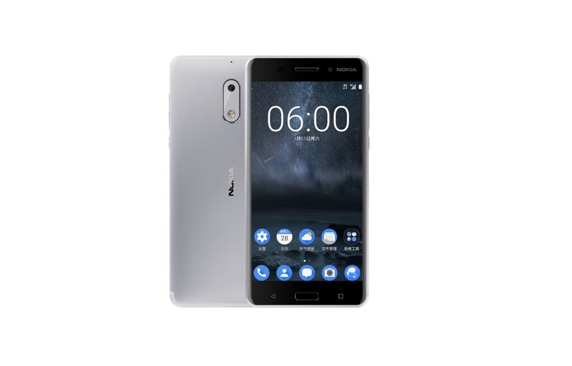 nokia 6 now comes in a new silver color registration for