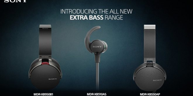 Sony New Extra Bass Headphones, Earphones launched in India