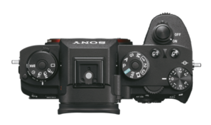 Sony a9 Camera Top View