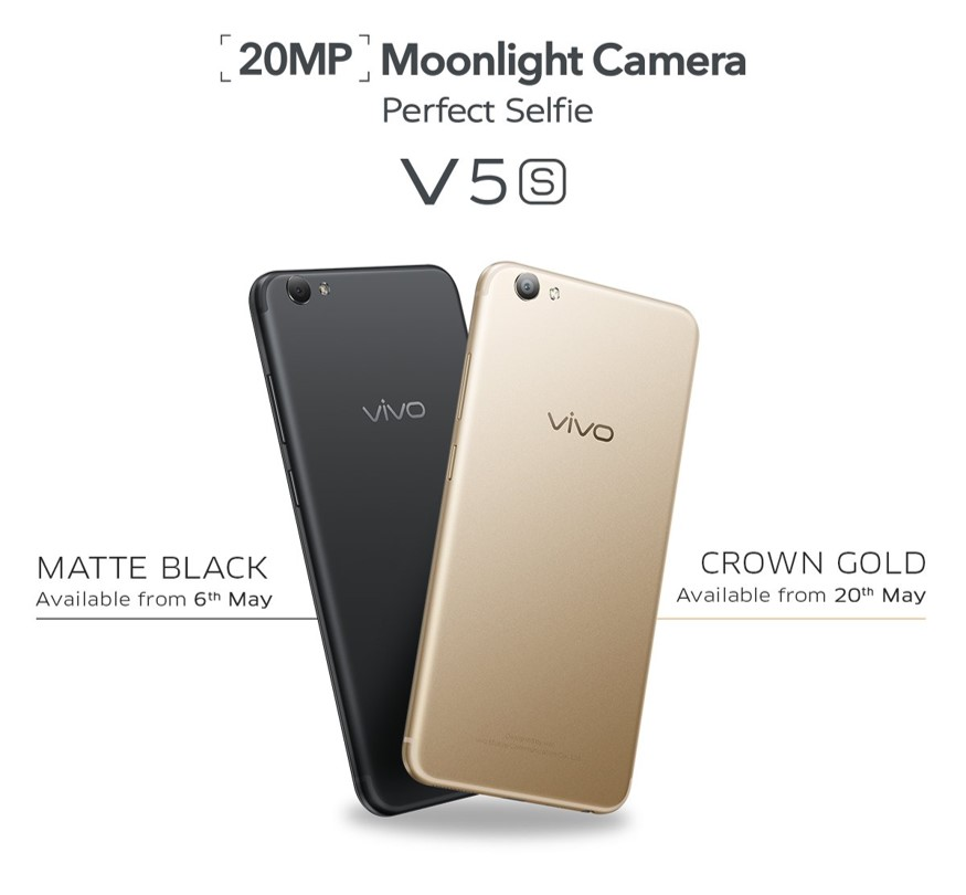 Vivo V5s Colors