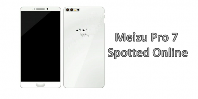 Meizu Pro 7 Spotted Online