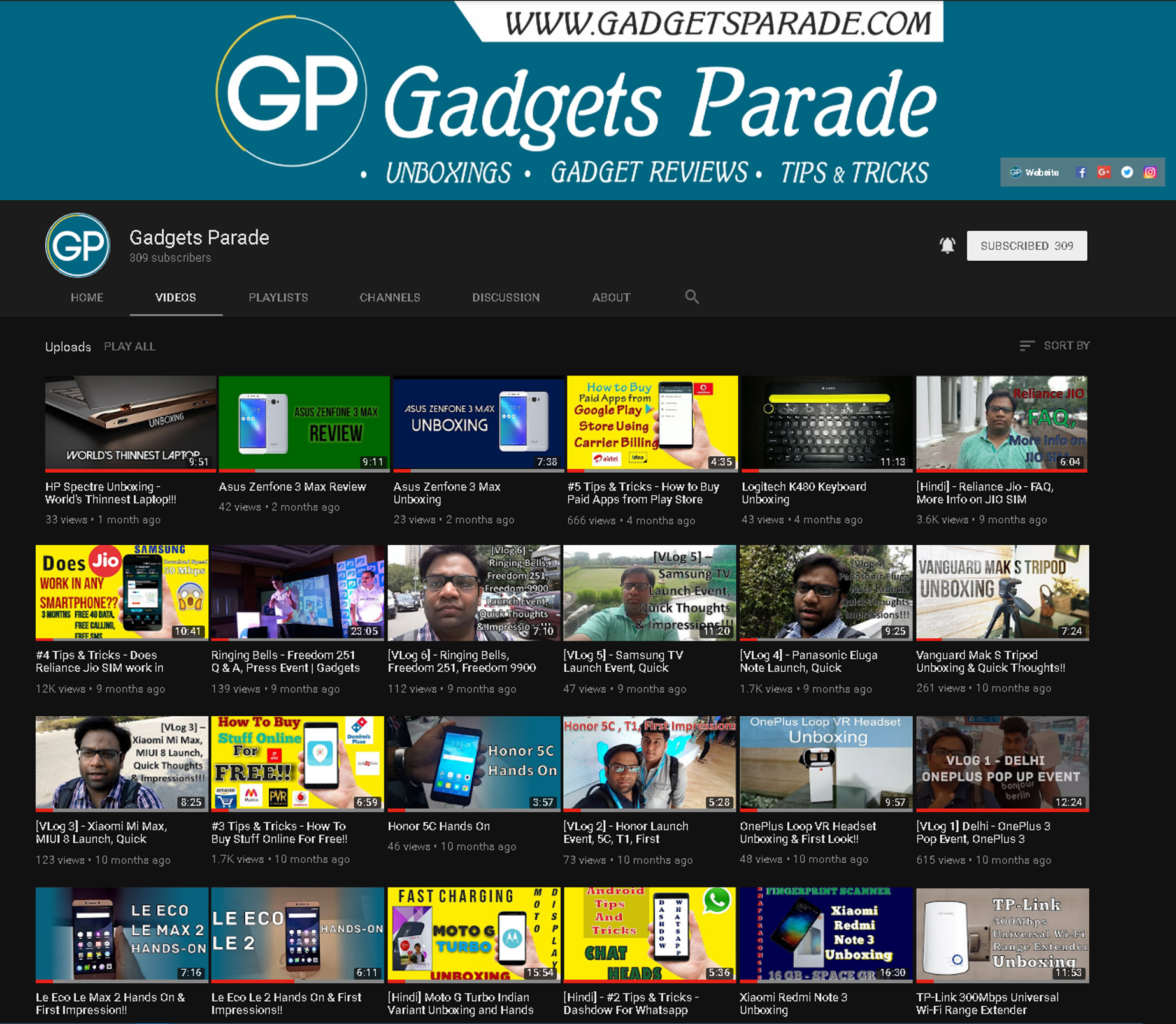 Youtube Material Design Gadgets Parade Black Theme
